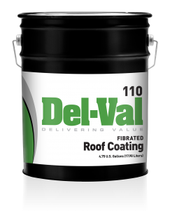 Image of Del-Val 110 Fibered Roof Coating in 5 Gallon Pail
