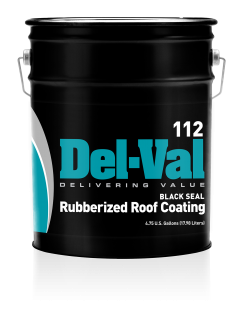 Del-Val 112 Black Seal Rubberized Roof Coating in 5 Gallon Pail