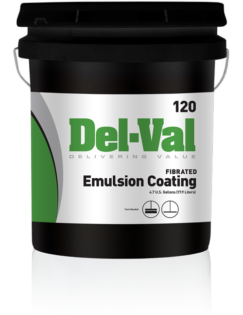 Del-Val 120 Fibered Emulsion Coating in 5 Gallon Bucket