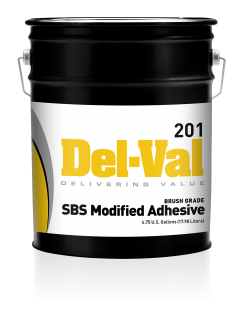 Image of Del-Val 201 SBS Modified Adhesive - Brush Grade - 5 Gallon Pail