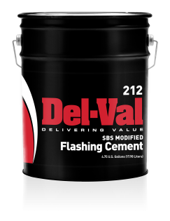 Del-Val 212 SBS Modified Flashing Cement - Trowel Grade - 5 Gallon Pail