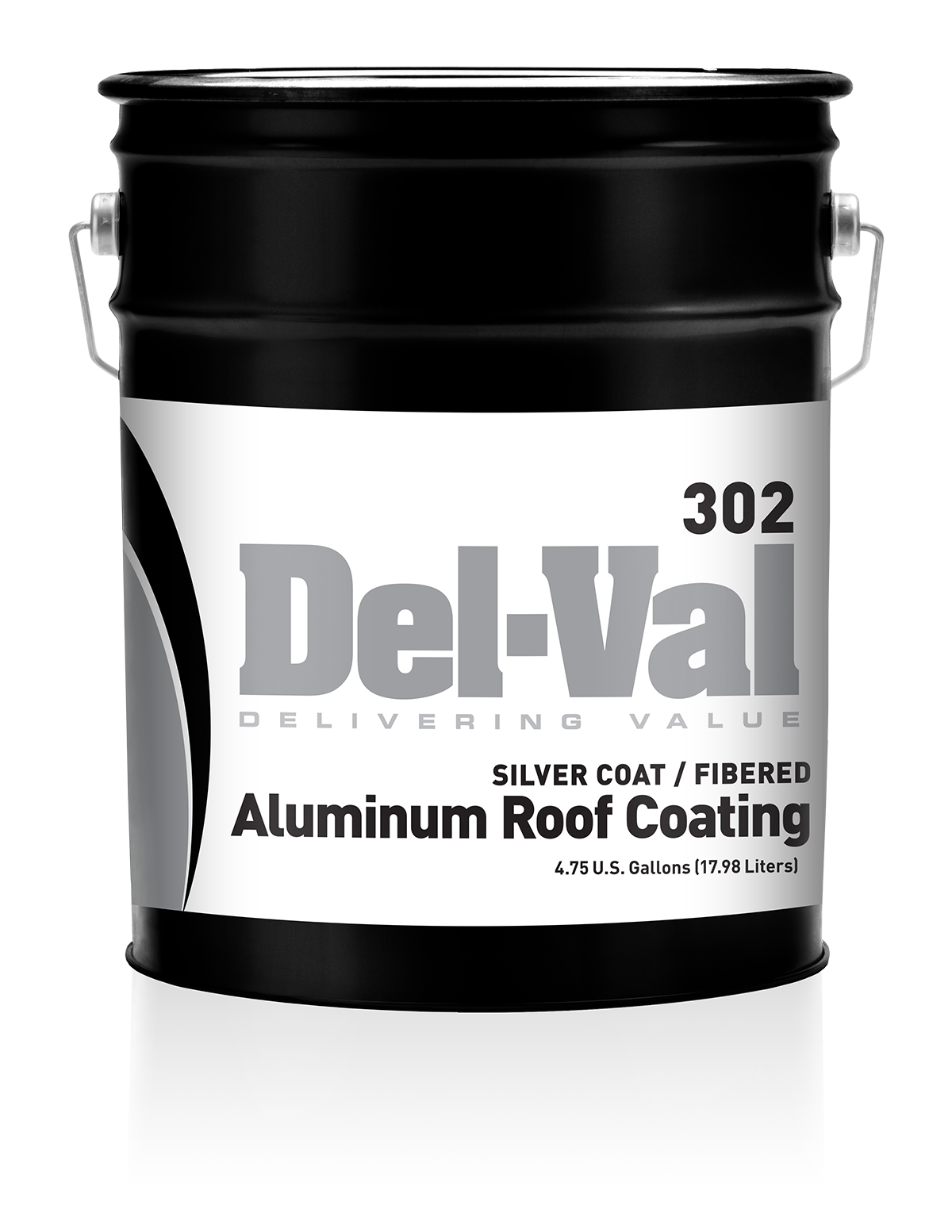 Image of Del-Val 302 Silver Coat / Fibered Aluminum Roof Coating - 5 Gallon Pail