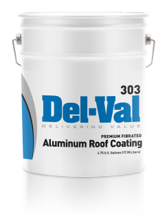 Image of Del-Val 303 Premium Fibrated Aluminum Roof Coating - 5 Gallon Pail