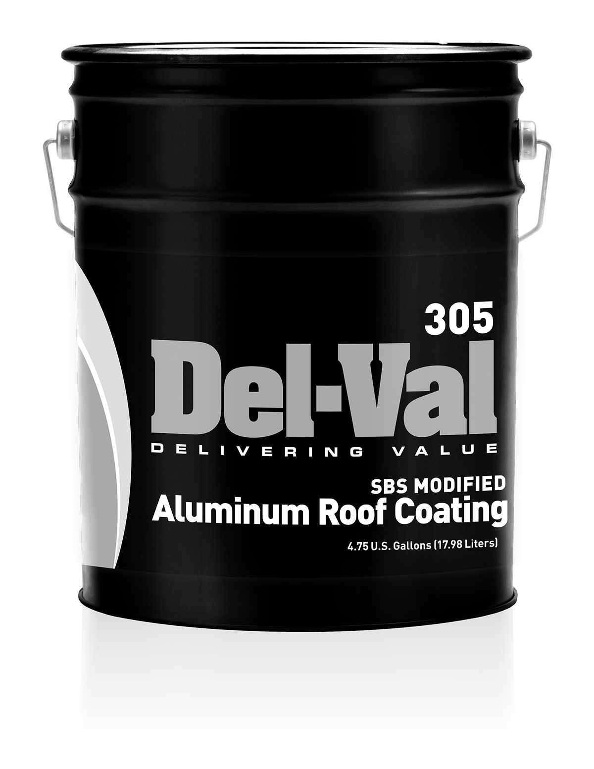 Image of Del-Val 305 SBS Modified Aluminum Roof Coating - 5 Gallon Pail