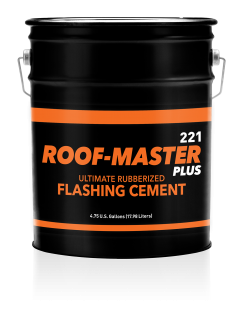 Roof-Master Plus 221 Ultimate Rubberized Flashing Cement - 5 Gallon Pail