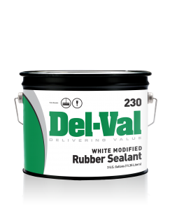 Image of Del-Val 230 Modified Rubber Sealant (White) - 3 Gallon Pail