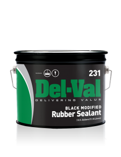 Image of Del-Val 231 Modified Rubber Sealant (Black) - 3 Gallon Pail