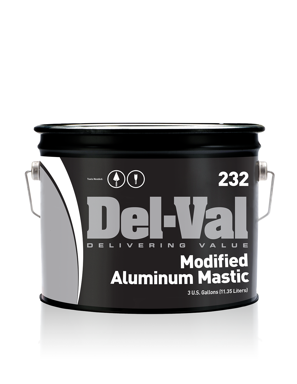 Image of Del-Val 232 Modified Aluminum Mastic - 3 Gallon Pail