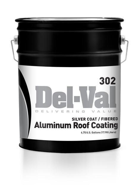 #302 Del Val Silver Coat Fibrated Aluminum Roof Coating