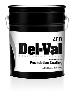 Del-Val 400 Non-Fibered Foundation Coating - 5G Pail