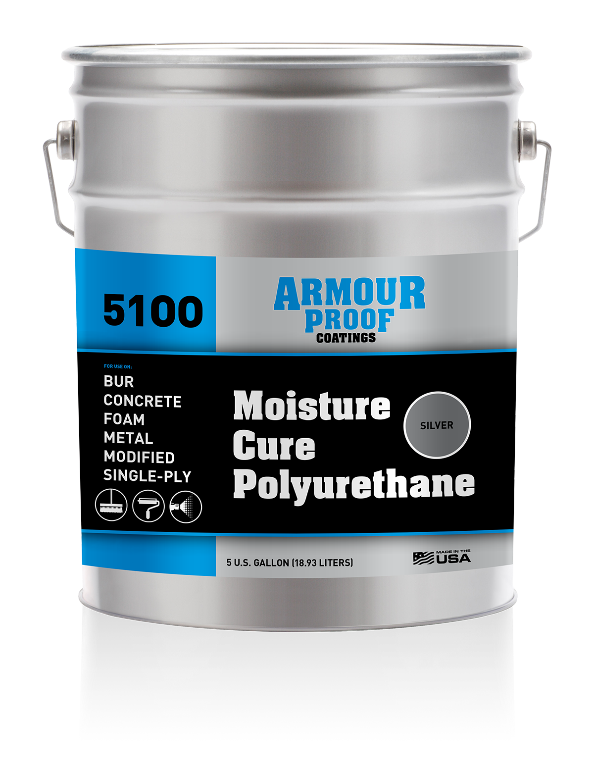 Image of United Asphalt's Armour Proof 5100 (Silver) Moisture Cure Polyurethane