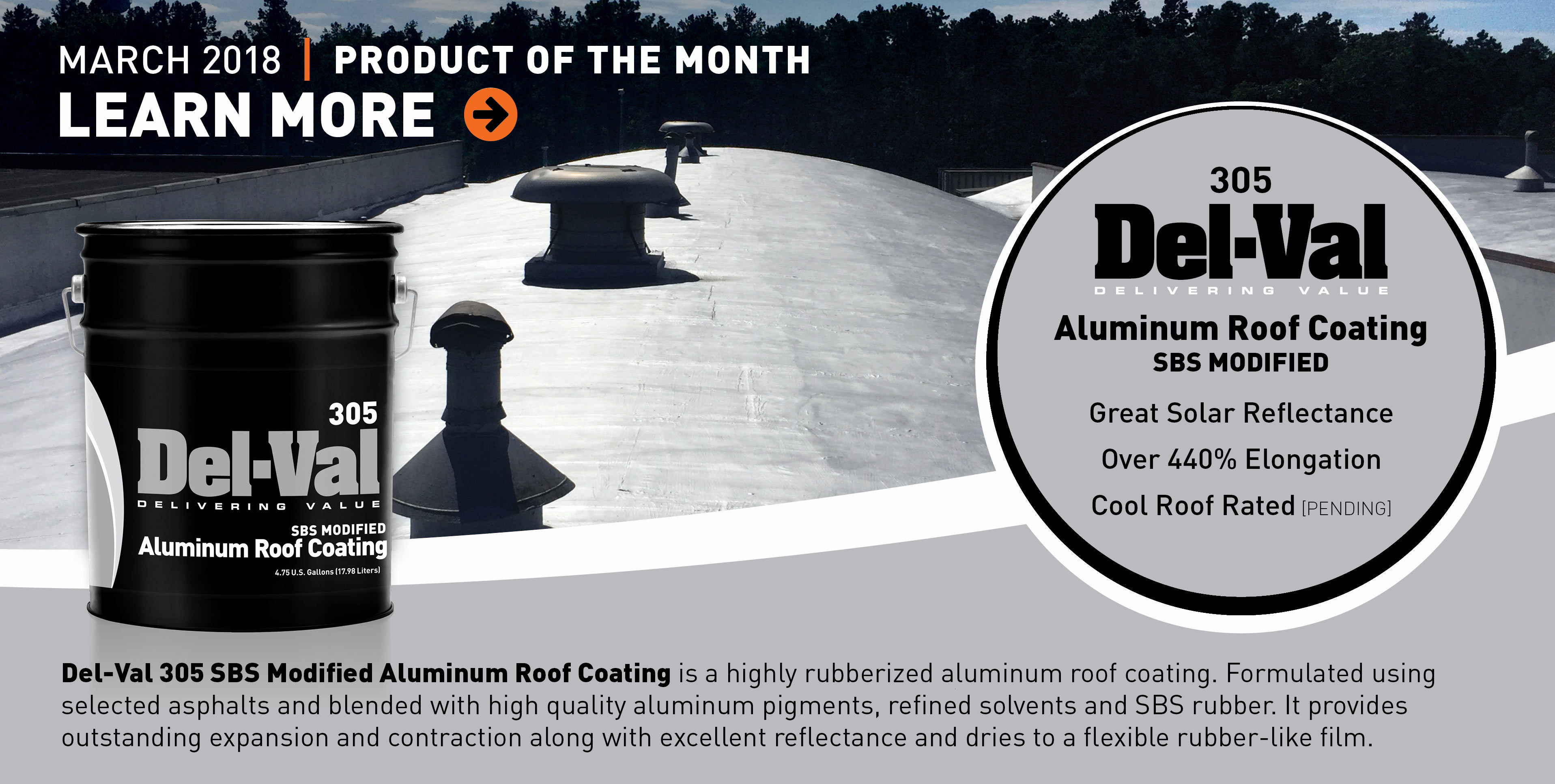 Image of Featured Product of the Month for March 2018: Del-Val 305