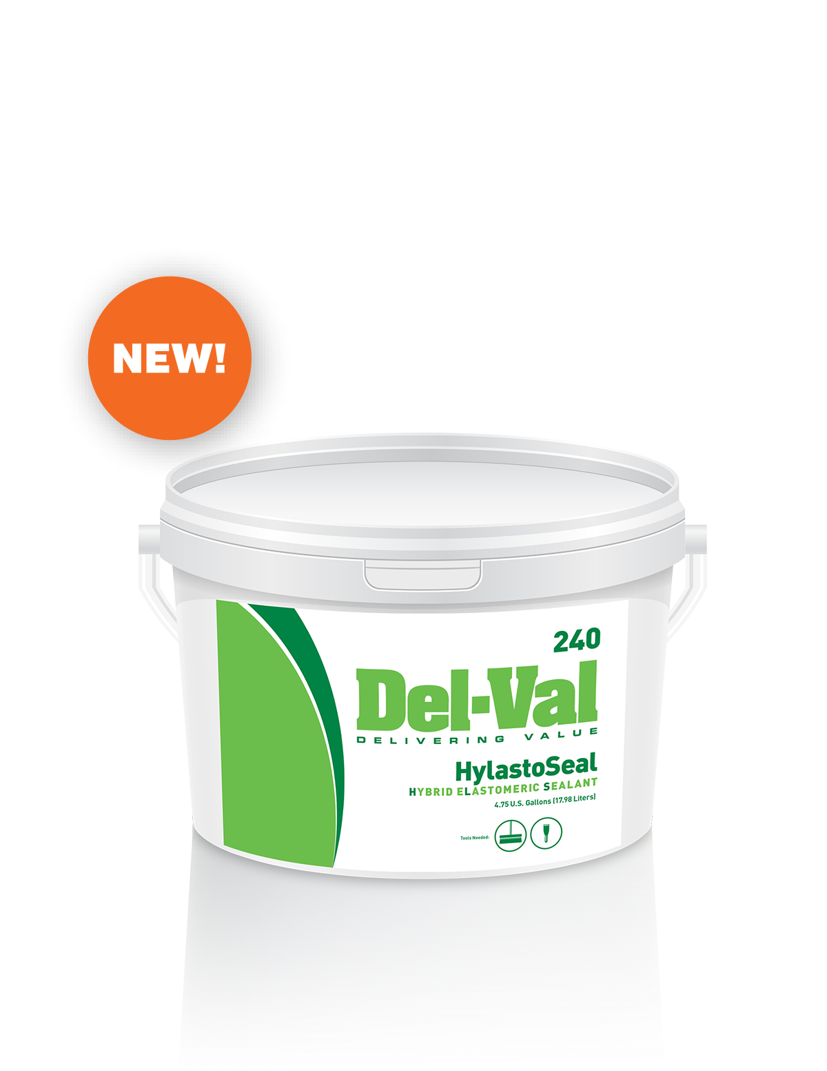 Image of Del-Val 240 HyLastoSeal (Hybrid Elastomeric Sealant) - 3 Gallon Bucket