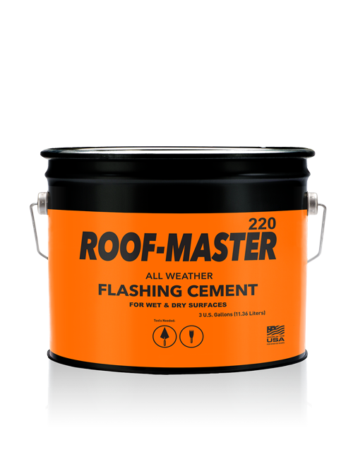 220 Roof Master All Weather Flashing Cement 3 Gallon