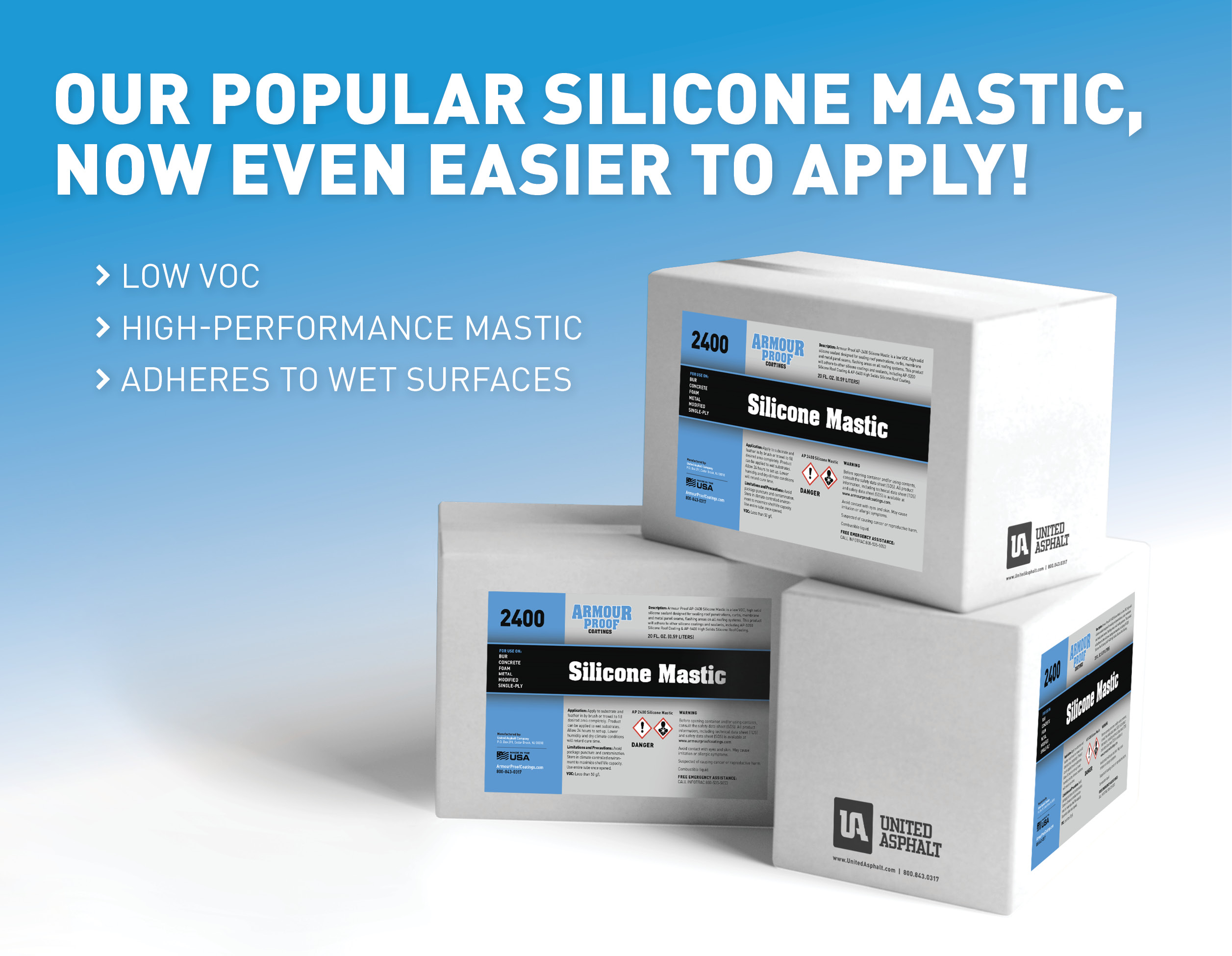 Silicone Mastic Lead Now Easier to Apply!